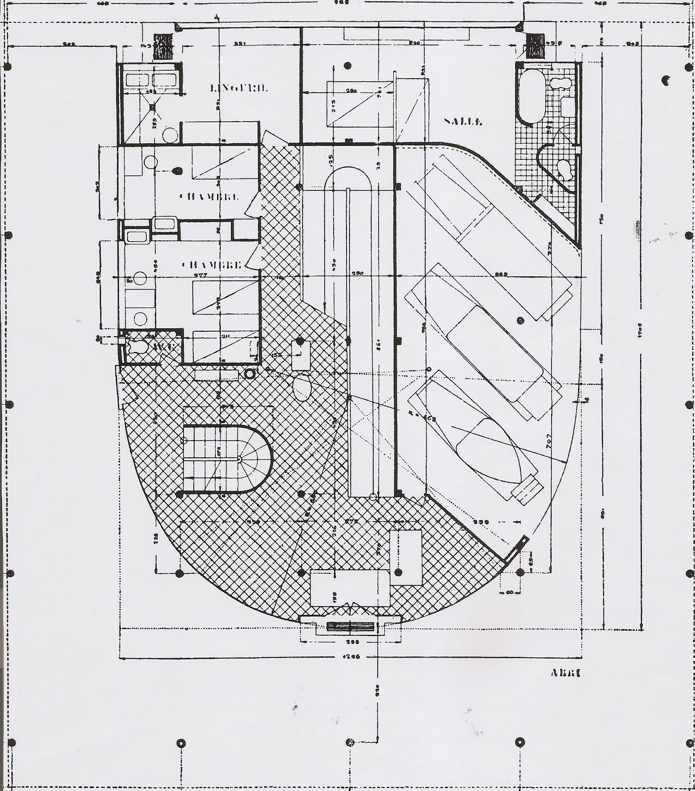 Architecture myths 18 the free plan misfits 39 architecture for Top floor plans