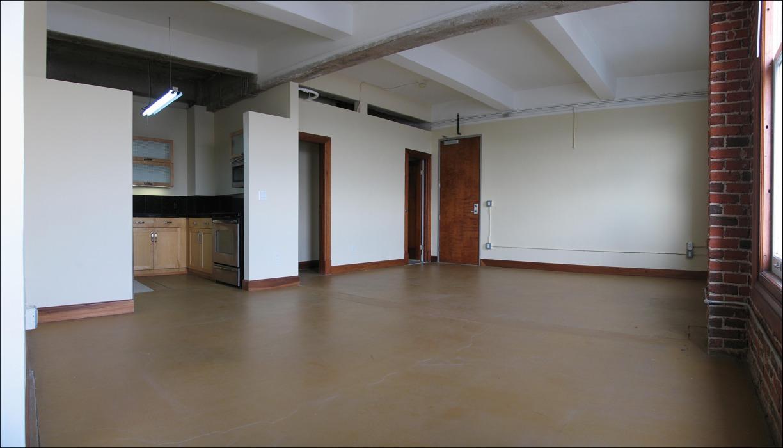 d empty loft interior 3